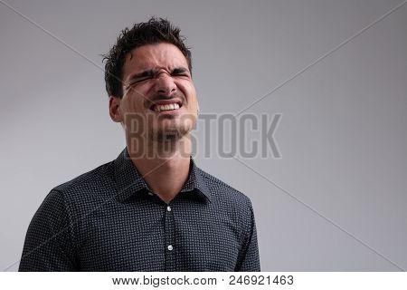 Sad Man With Bad News Expression