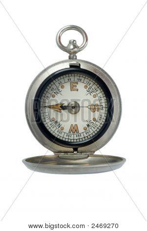 Antique Silver Compass