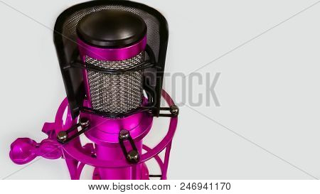 Large Diaphragm Condenser Studio Recording Voice Microphone To Record Professional Voiceovers Singin