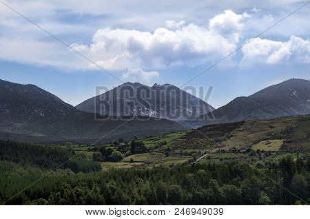 A View Of The Mourne Mountains And Surrounding Area.