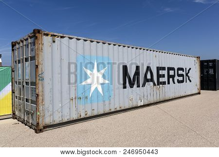 Container Of Maersk Shipping Company