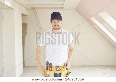 Handsome Young Repairman Portrait