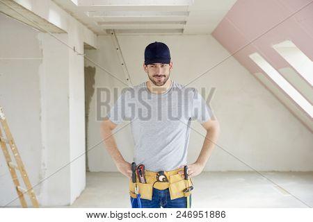 Smiling Repairman Portrait