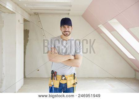 Successful Young Repairman Portrait