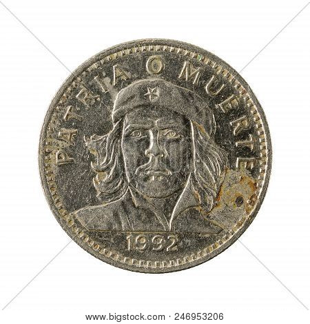 3 Cuban Peso Coin (1992) Reverse Isolated On White Background