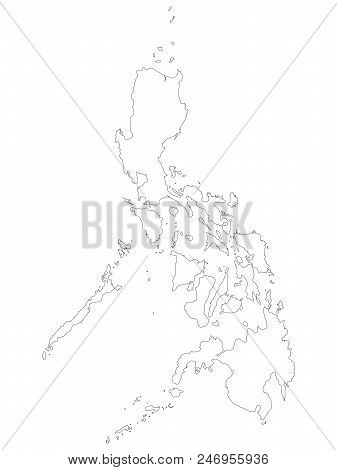 Philippines Map Black And White.Philippines Map Black Vector Photo Free Trial Bigstock
