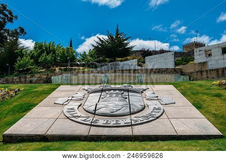 Belmonte, Portugal - June 11, 2018: Town Entrance To Belmonte With Its Castle, Birthplace Of 16th-ce