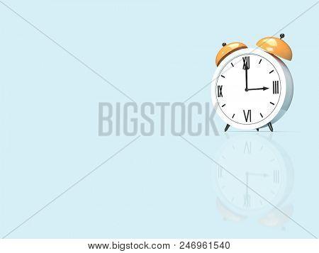 Alarm clock. 3D rendering illustration