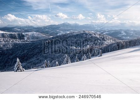 View To Mala Fatra Mountains With Velky Rozsutec And Stoh Hill In Slovakia From Hala Na Malej Raczy