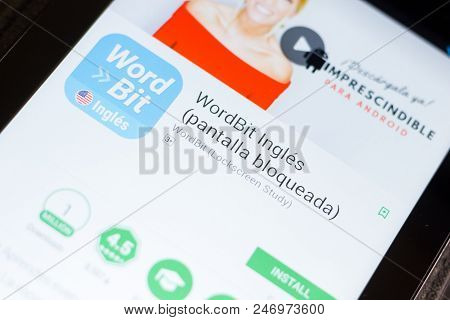 Ryazan, Russia - June 24, 2018: Wordbit Ingles Mobile App On The Display Of Tablet Pc
