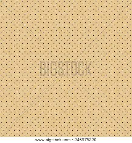 Vector Light Perforated Leather Seamless Texture. Realistic Perforated Background. Beige Dotted Patt