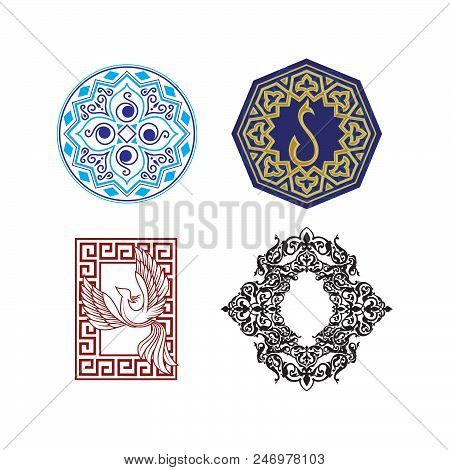 Collection of symbols ethnic, religion, alchemy, philosophy, spiritual, folk, Indian Hipster decorative elements Isolated signs poster