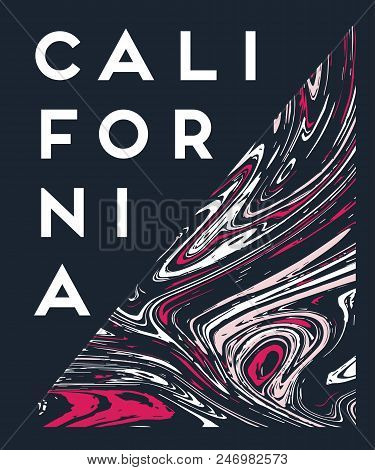Vector Illustration On The Theme Of Surf Rider And Surfing California