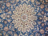 image of original persian carpet which is handmade poster