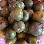 lucuma is a super nutritious Peruvian fruit that contains beta carotene, iron, zinc, vitamin B3, calcium, and protein. poster