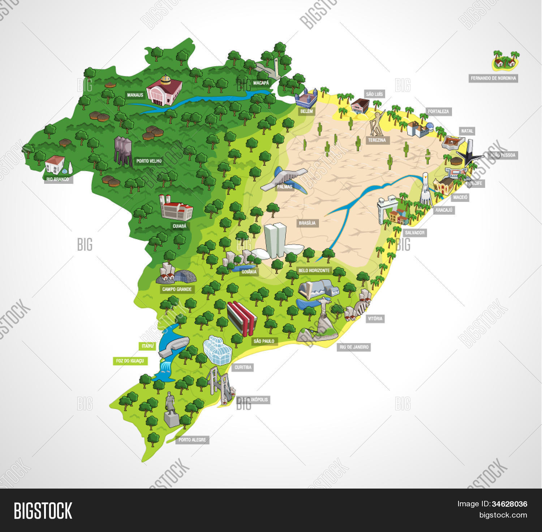 Map Brazil All Vector & Photo (Free Trial)   Bigstock