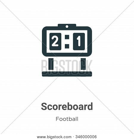 Scoreboard icon isolated on white background from football collection. Scoreboard icon trendy and mo