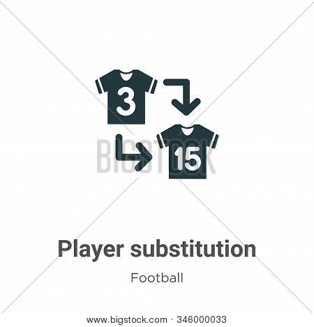 Player substitution icon isolated on white background from football collection. Player substitution