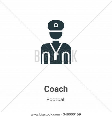 Coach icon isolated on white background from football collection. Coach icon trendy and modern Coach
