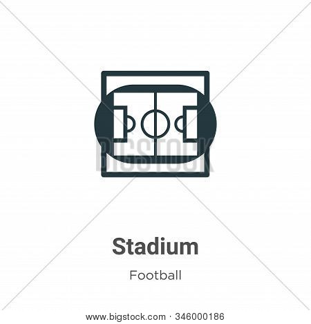 Stadium icon isolated on white background from football collection. Stadium icon trendy and modern S