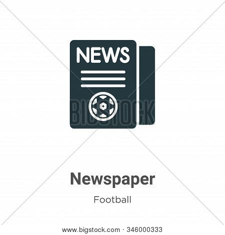 Newspaper icon isolated on white background from football collection. Newspaper icon trendy and mode