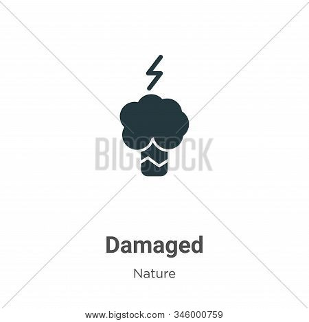 Damaged icon isolated on white background from nature collection. Damaged icon trendy and modern Dam