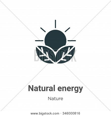 Natural energy icon isolated on white background from nature collection. Natural energy icon trendy