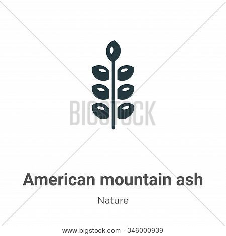 American Mountain Ash Vector Icon On White Background. Flat Vector American Mountain Ash Icon Symbol