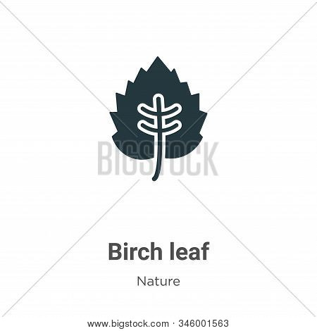 Birch leaf icon isolated on white background from nature collection. Birch leaf icon trendy and mode