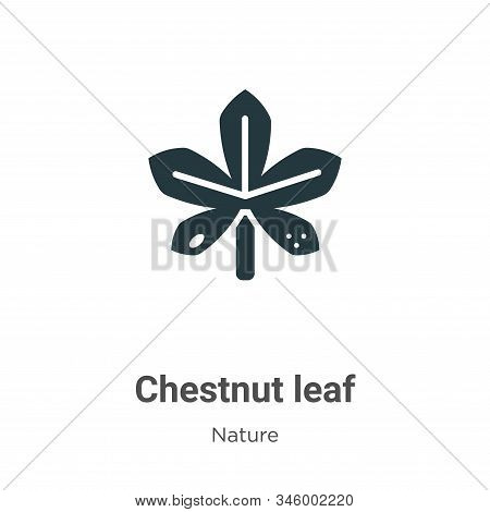 Chestnut leaf icon isolated on white background from nature collection. Chestnut leaf icon trendy an