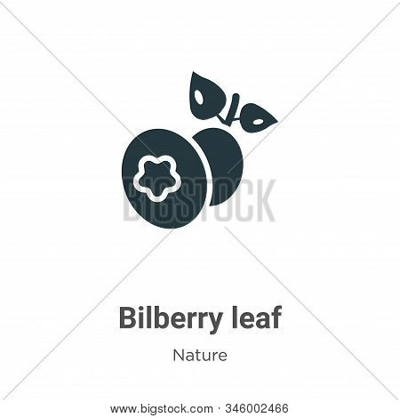 Bilberry leaf icon isolated on white background from nature collection. Bilberry leaf icon trendy an