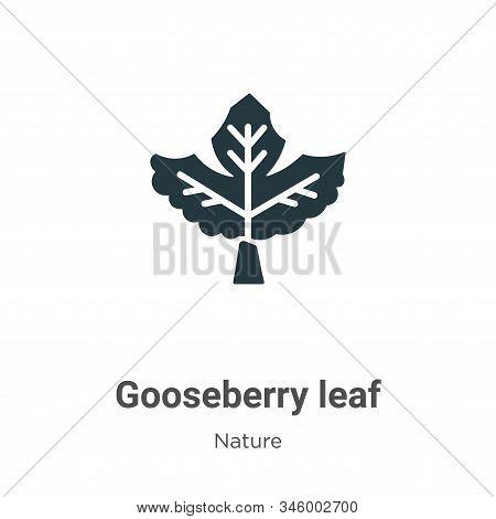 Gooseberry leaf icon isolated on white background from nature collection. Gooseberry leaf icon trend