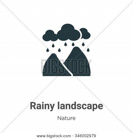 Rainy landscape icon isolated on white background from nature collection. Rainy landscape icon trend