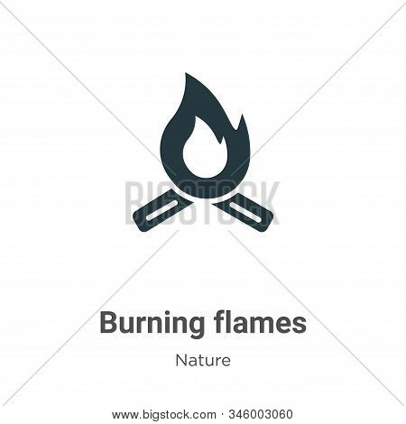 Burning flames icon isolated on white background from nature collection. Burning flames icon trendy