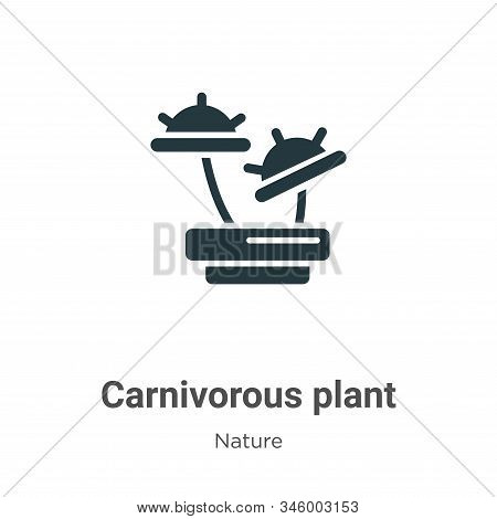 Carnivorous Plant Vector Icon On White Background. Flat Vector Carnivorous Plant Icon Symbol Sign Fr