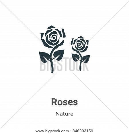 Roses icon isolated on white background from nature collection. Roses icon trendy and modern Roses s