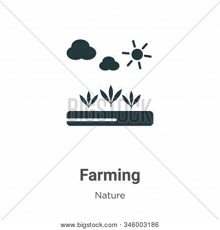 Farming icon isolated on white background from nature collection. Farming icon trendy and modern Far