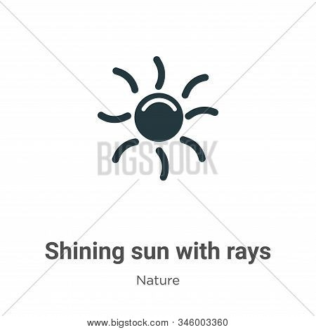 Shining sun with rays icon isolated on white background from nature collection. Shining sun with ray