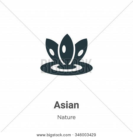 Asian icon isolated on white background from nature collection. Asian icon trendy and modern Asian s