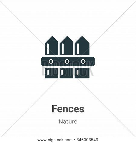 Fences icon isolated on white background from nature collection. Fences icon trendy and modern Fence