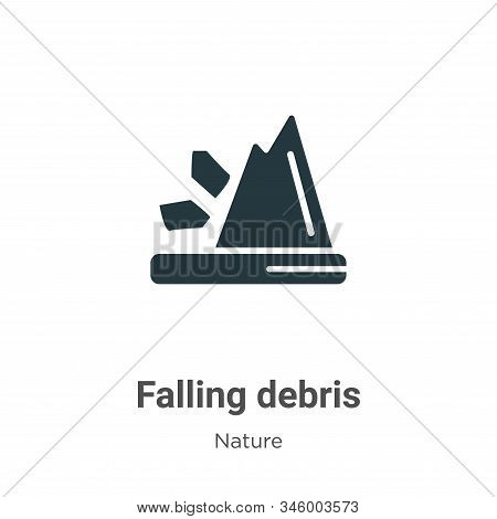 Falling debris icon isolated on white background from nature collection. Falling debris icon trendy