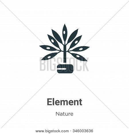 Element icon isolated on white background from nature collection. Element icon trendy and modern Ele