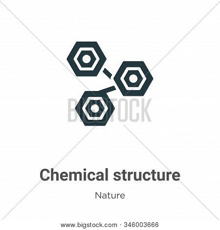 Chemical structure icon isolated on white background from nature collection. Chemical structure icon