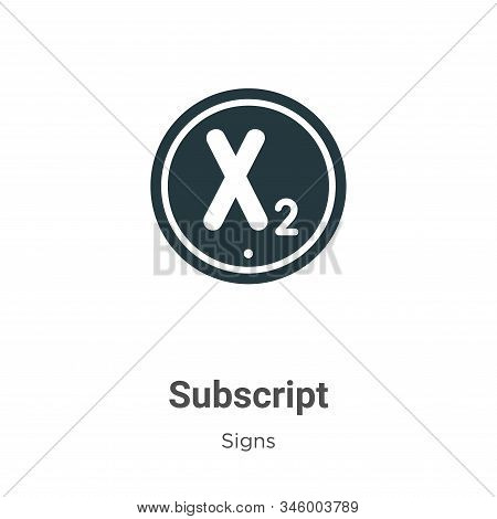 Subscript icon isolated on white background from signs collection. Subscript icon trendy and modern