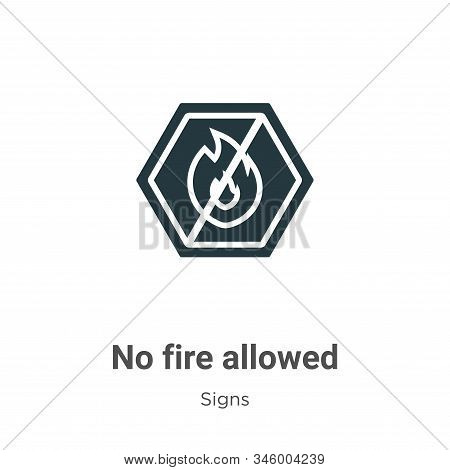 No Fire Allowed Vector Icon On White Background. Flat Vector No Fire Allowed Icon Symbol Sign From M