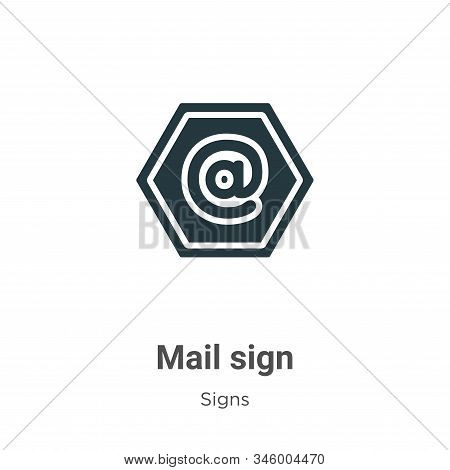 Mail sign icon isolated on white background from signs collection. Mail sign icon trendy and modern