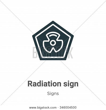 Radiation sign icon isolated on white background from signs collection. Radiation sign icon trendy a