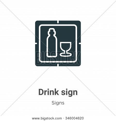 Drink sign icon isolated on white background from signs collection. Drink sign icon trendy and moder