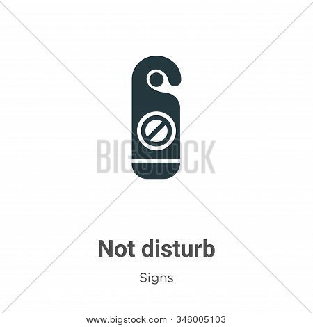 Not disturb icon isolated on white background from signs collection. Not disturb icon trendy and mod