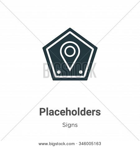 Placeholders icon isolated on white background from signs collection. Placeholders icon trendy and m